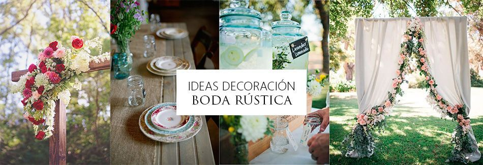 Ideas decoraci n boda r stica grupo madison - Ideas para decoracion rustica ...