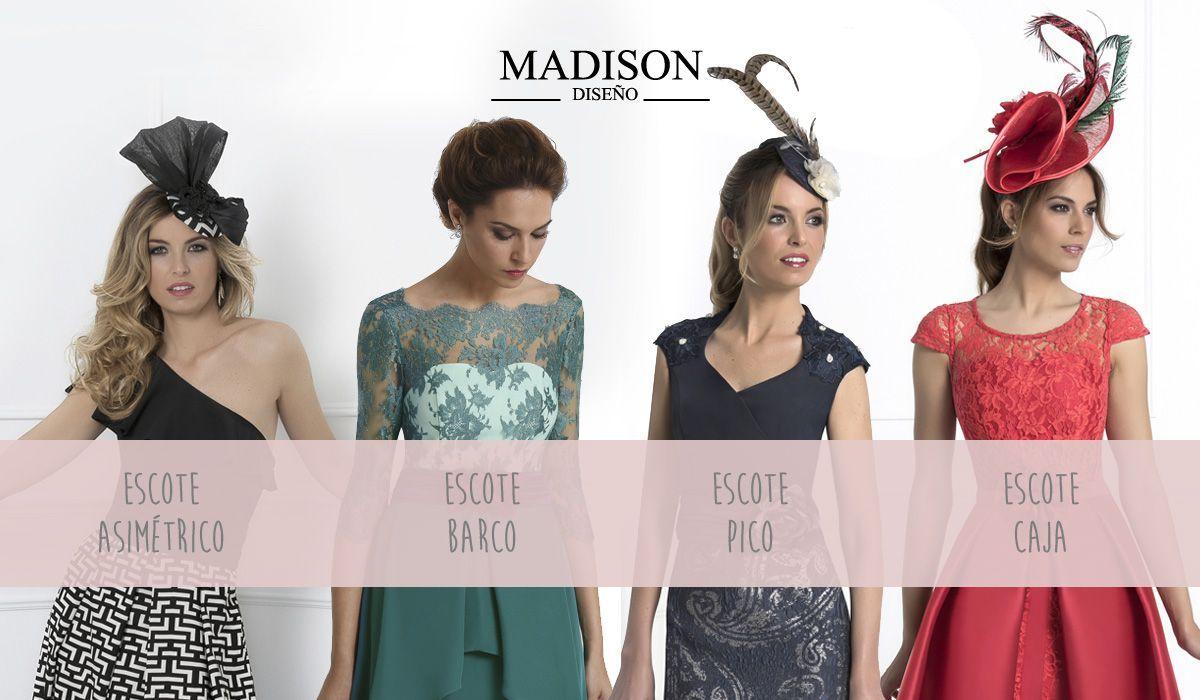 escotes en vestidos de Madison para madrinas e invitadas