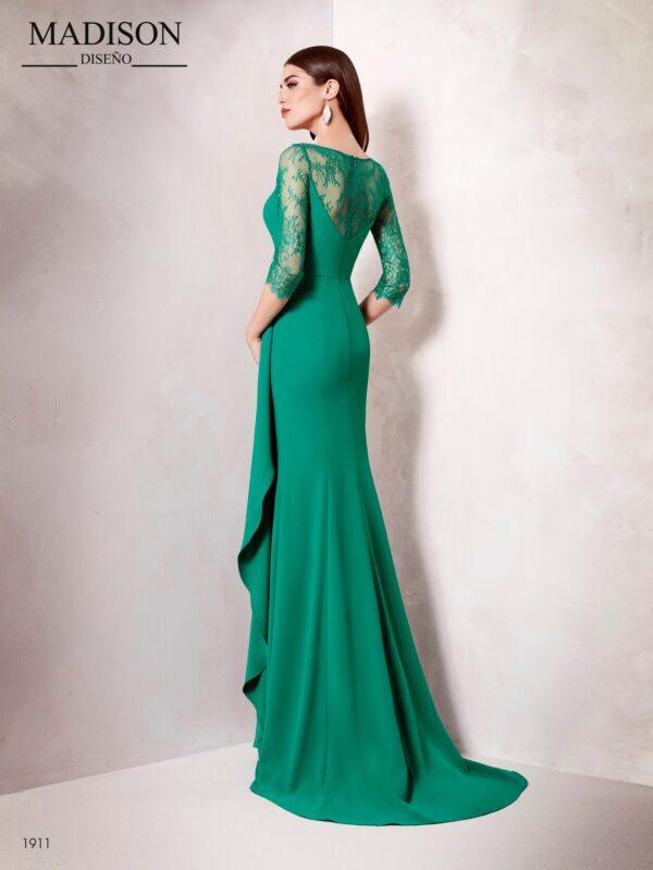 Vestido largo aplicación de pedrería en cintura