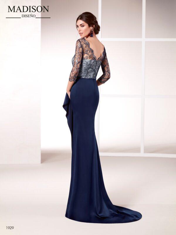 Vestido de noche sofisticado crepe satén